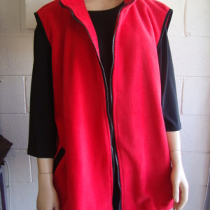 Red Polar Fleece Vest